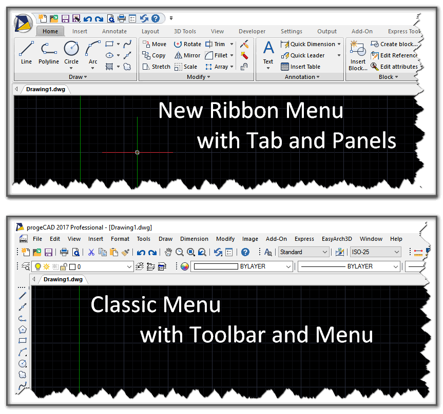 Ribbon and Classic GUI