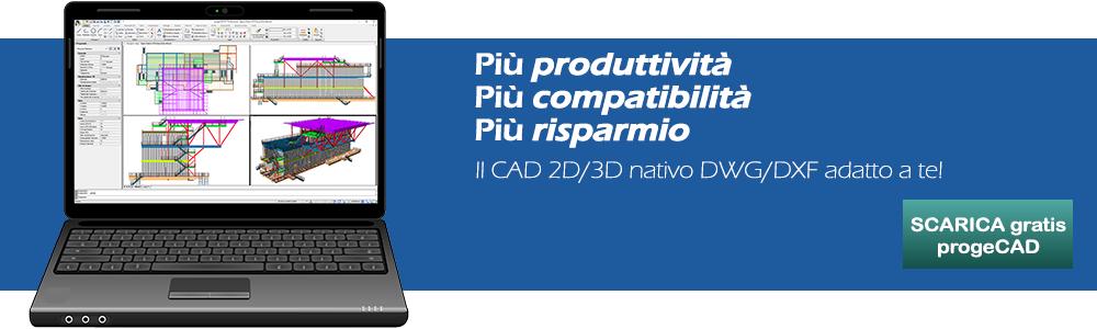 Alternativa autocad progecad il cad a basso costo 2d 3d for Cad 3d free italiano