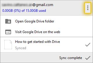 Access Google Drive settings