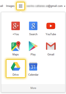 Google Drive into the Google application panel