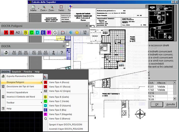 Docfa esporta da cad a docfa mappe catastali dxf e dwg for Planimetrie per aggiunta suite in legge