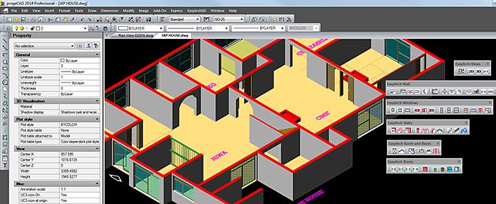 Easyarch il modulo cad 2d 3d free per l 39 architettura for Programmi architettura 3d gratis