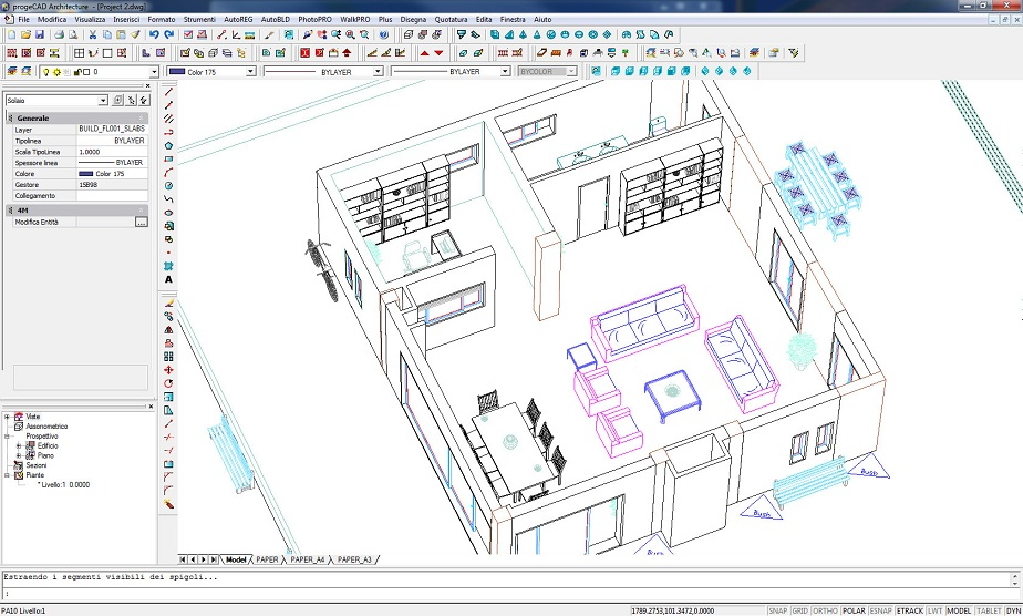 Topografia cad for Porte interne dwg