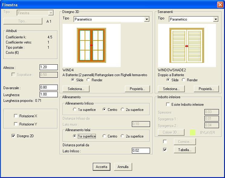 topografia cad On programma di porte e finestre campione