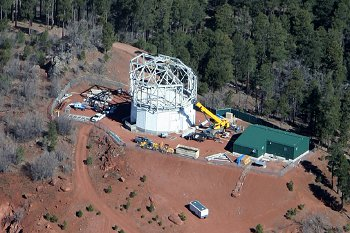 Aerial photo of telescope site