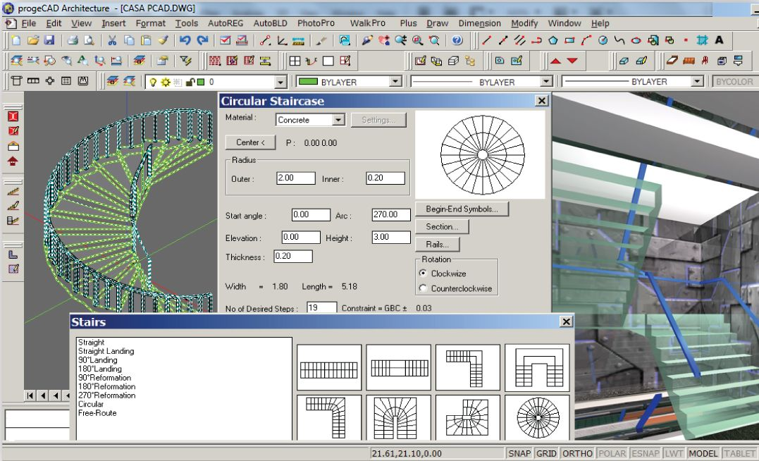Features details of progeCAD Architecture  Low-cost 3D BIM